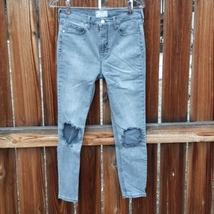 Free people high rise skinny jeans s 31 distressed